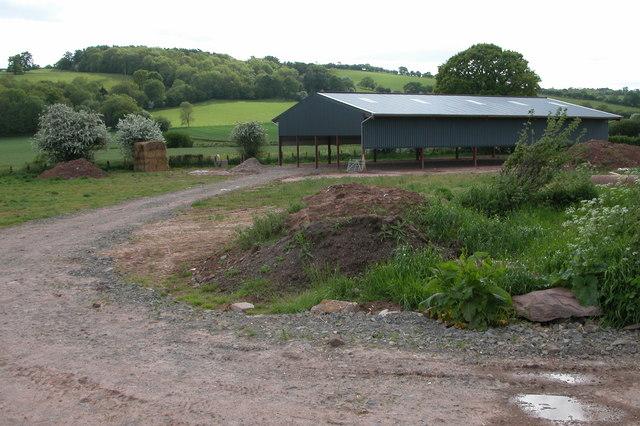 New barn, near Little Bage