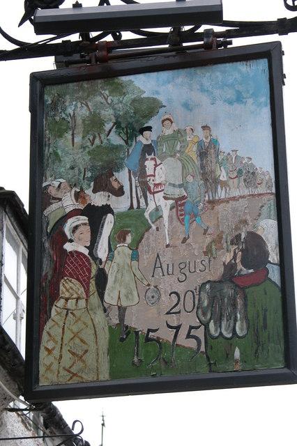 Queen's Head inn sign, Elmley Castle