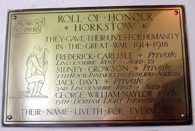 Horkstow Church - War Memorial