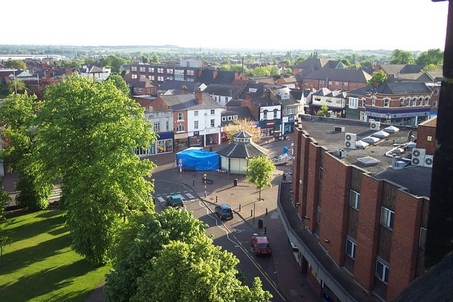 View of Cannock from top of St. Luke's Church Tower