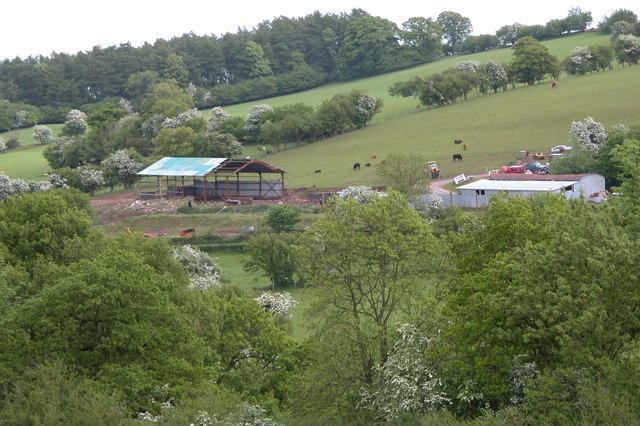 A barn under construction, Dorstone