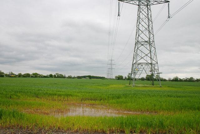 Pylons Across Field