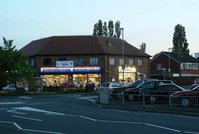 The Co-op, Butcher Hill at dusk