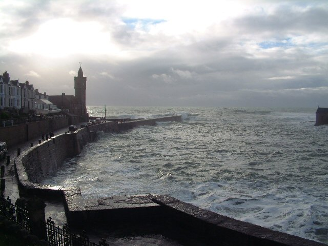 Porthleven Harbour on a winter's evening