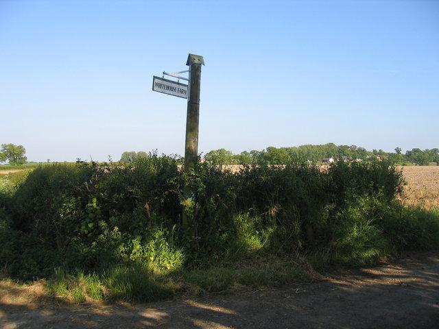 Whitehouse Farm sign