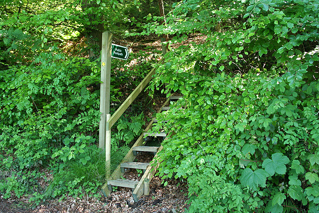 Uffculme: footpath on Sheldon Hill