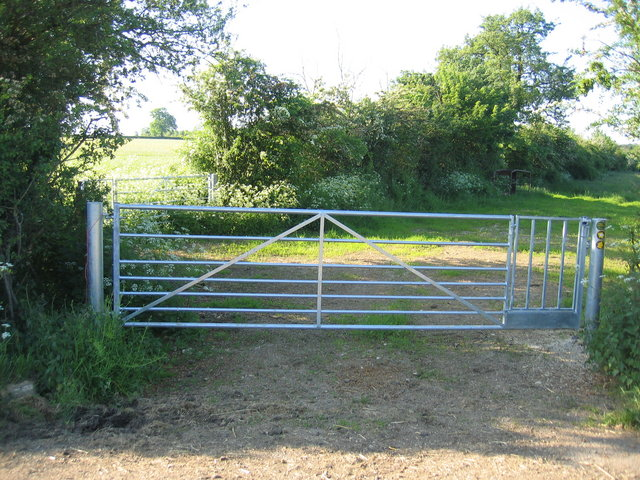 Farm gate with built in pedestrian gate