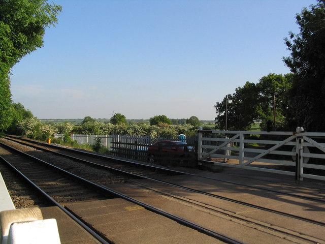 Level Crossing,  Oakham-Melton line, SE corner of Stapleford Park