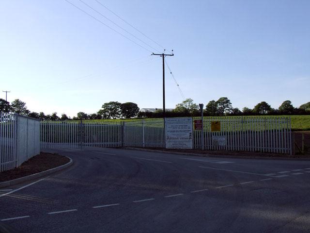 Penhesgyn tip entrance gates