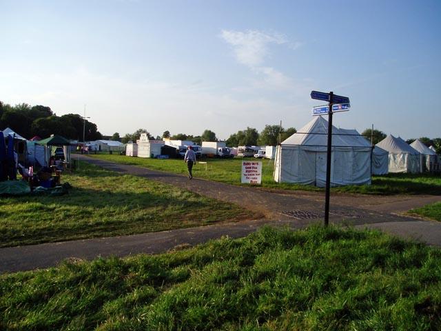 Setting up Strawberry Fair on Midsummer Common, Cambridge