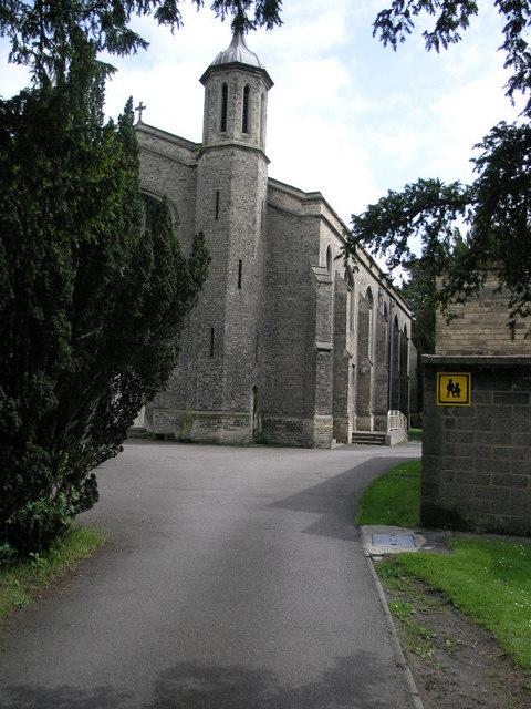 Church Behind Trees