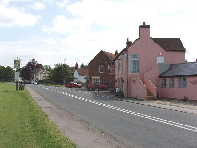 A40 road and village centre, Tetsworth
