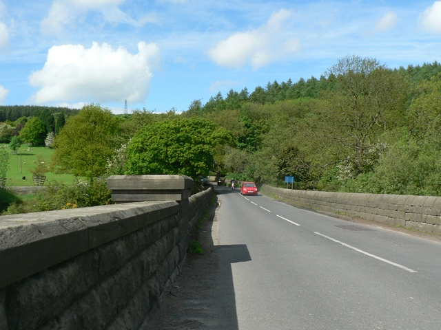 Road across the Viaduct, Lindley Wood Reservoir