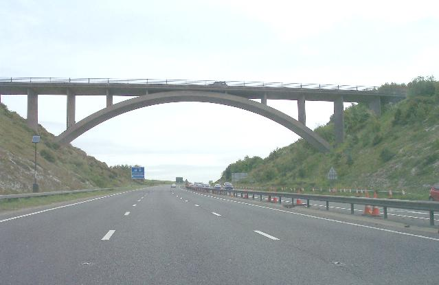 Bridge over the A27, Shoreham