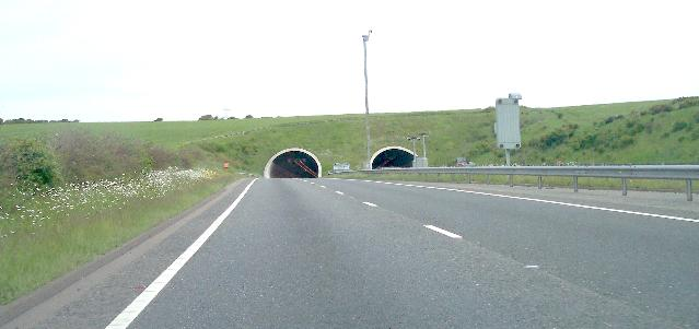West Entrance to A27 Tunnel under Southwick Hill