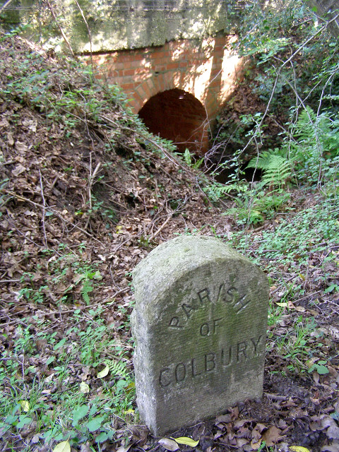 Boundary stone north of Dunces Arch, New Forest