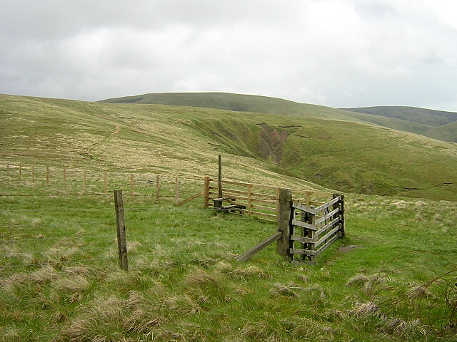 Gate and Stile on Southern Upland Way
