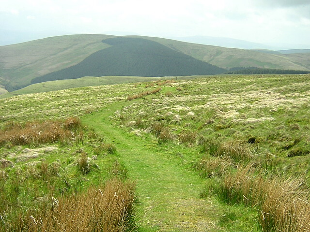 Southern Upland Way on Glengaber Hill