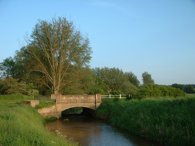 Bridge over the Babingley River, Norfolk.