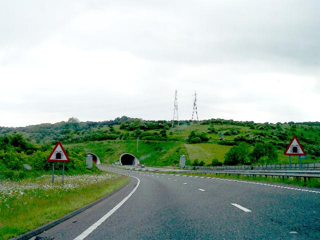 Approaching the Tunnels under Southwick Hill