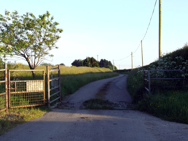 Private road with cattlegrid