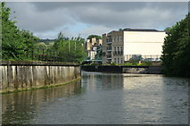 ST7464 : River Avon below Sainsbury's Bridge, Bath by Pierre Terre