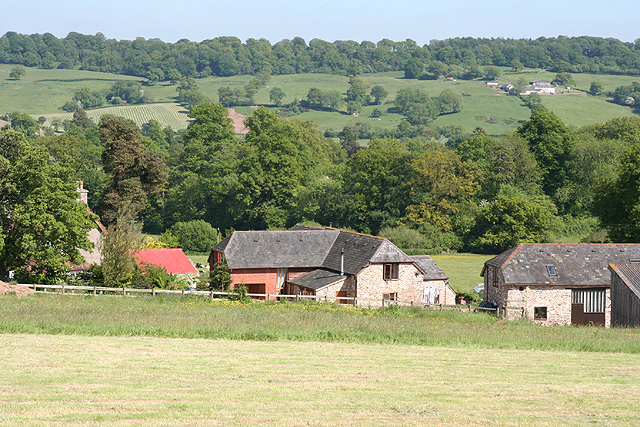 Upottery: overlooking Glebe Farm