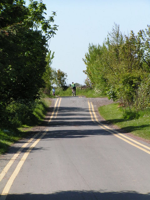 Cyclists on a rural byway
