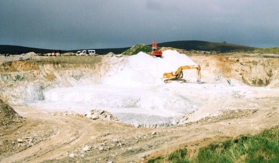 Talc quarry, Clibberswick