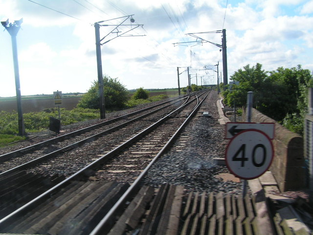 Railway line just south of Belford Station