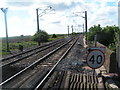 NU1233 : Railway line just south of Belford Station by N Chadwick
