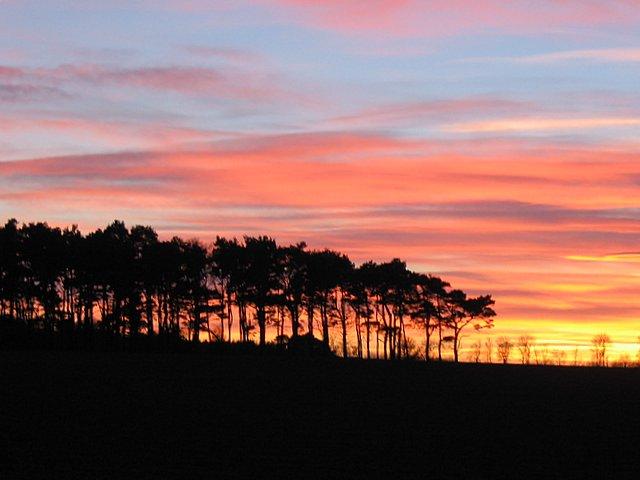 December Sunset at Pitgaveny