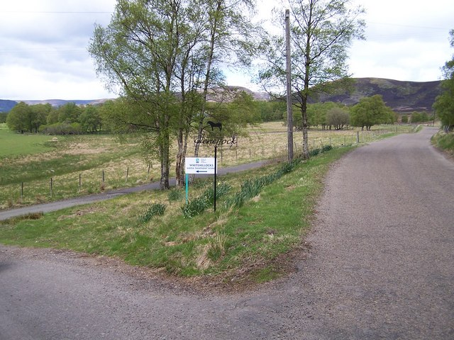Junction of the road leading down to Gleneffock