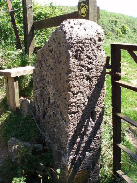 Limestone gatepost