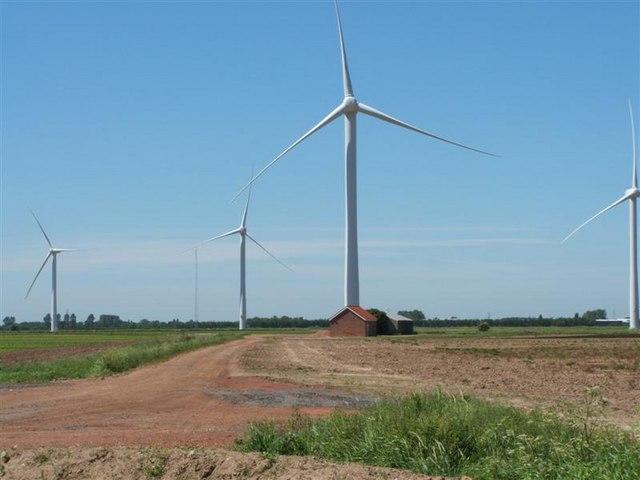 Wind farm at Gedney Marsh