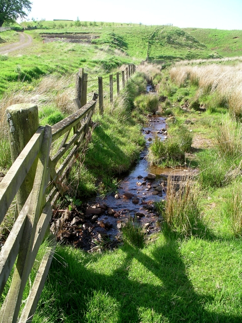 Stream near Ruddenleys farm