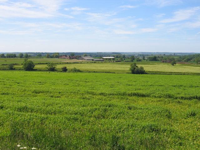 View towards Church Hill Farm