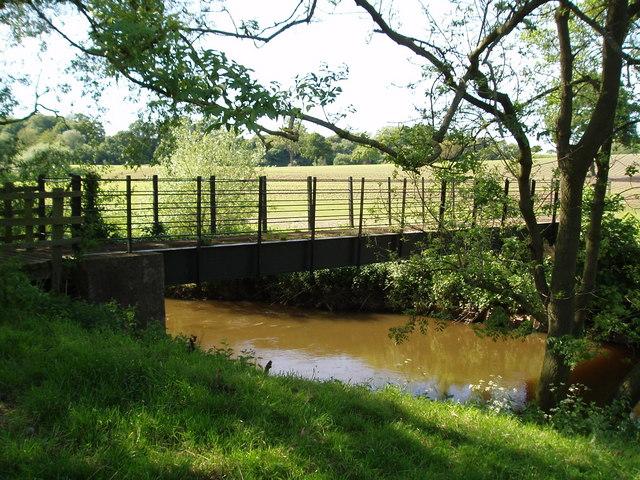 Foot bridge over the River Weaver