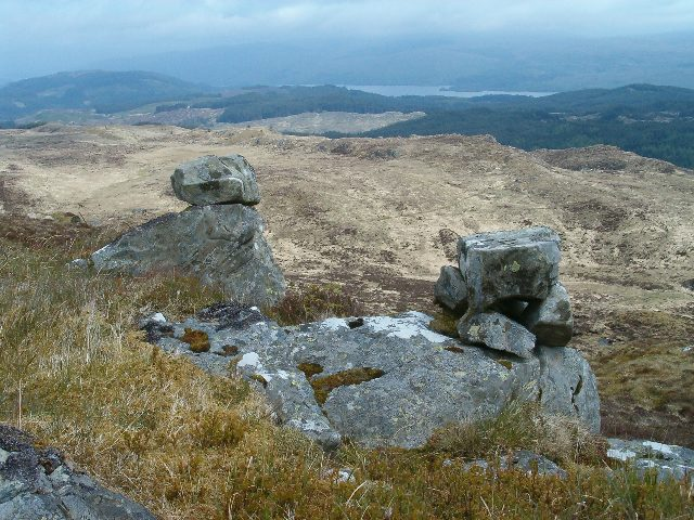 Two small cairns