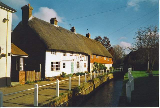 Riverside Thatched Cottages in East Meon.