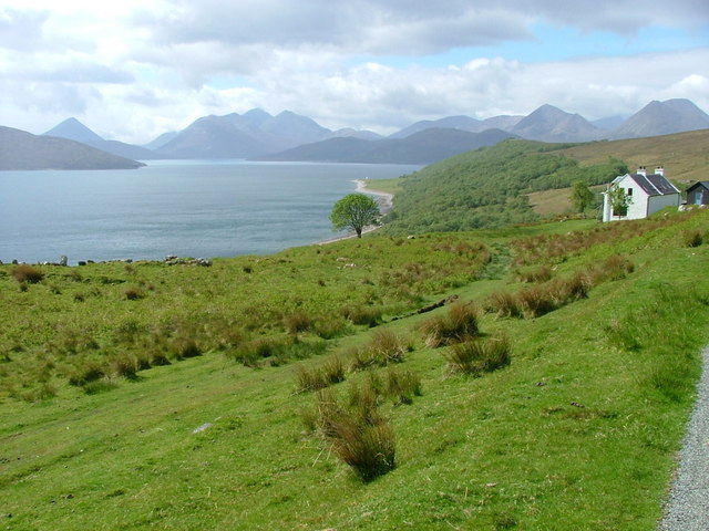 Grazing Land and Inner Sound and beyond to the from North Fearns Road