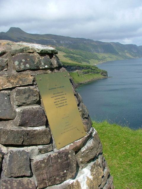 Maclean memorial cairn Hallaig