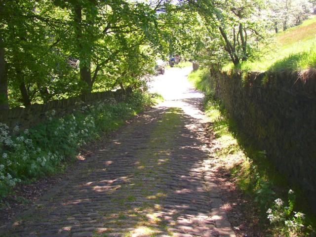 Bottom end of Pit Hill Lane, Barkisland