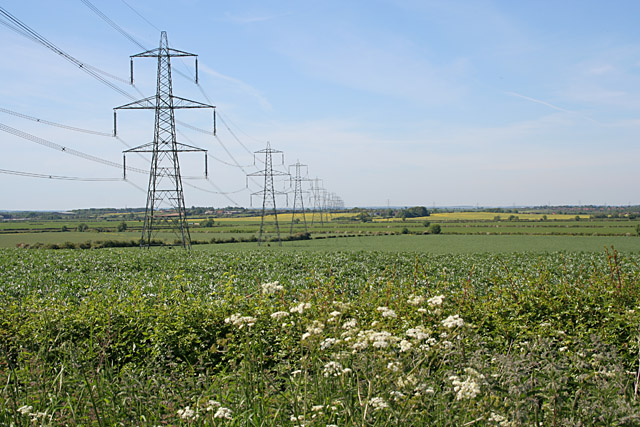 Miles of pylons
