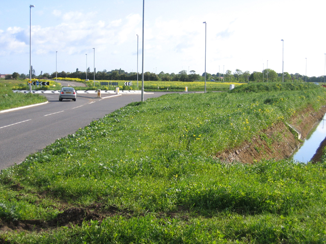 New roundabout, Longstanton, Cambs