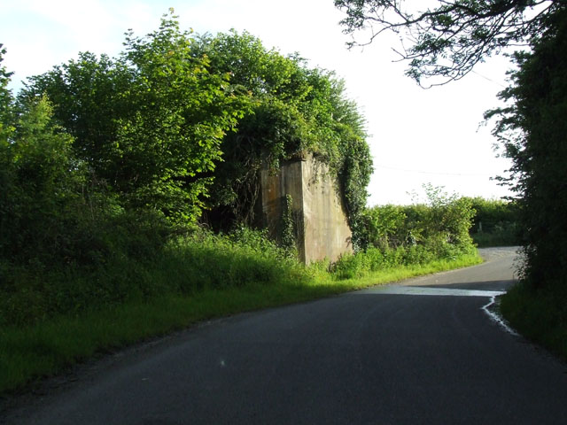 Remains of an old railway bridge at Pentraeth