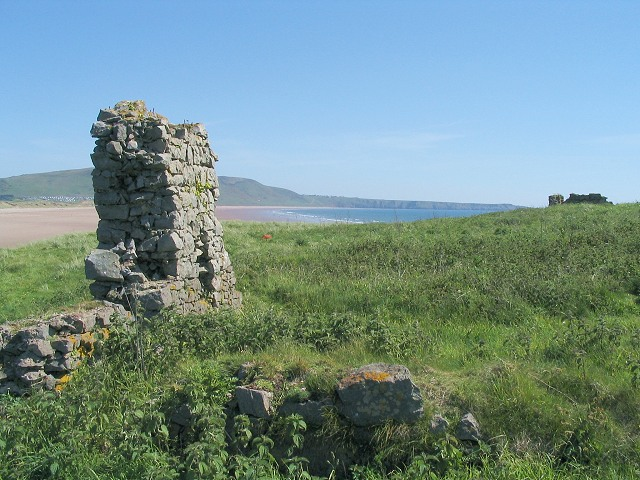Ruins on Burry Holms
