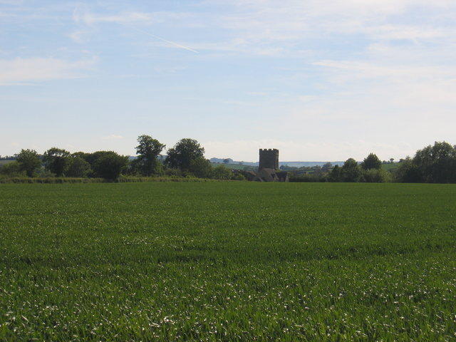 Distant view of Barcheston church