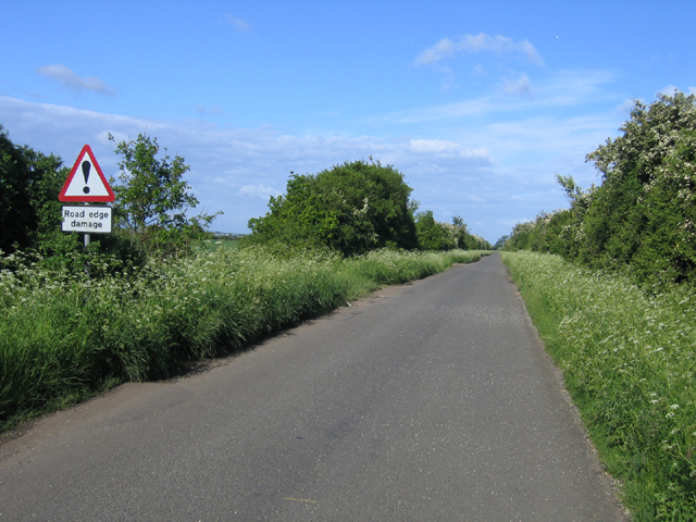 Road edge damage, Longstanton, Cambs