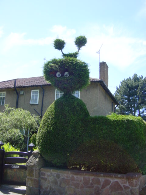 Loch Ness Monster Topiary on Street Hey Lane